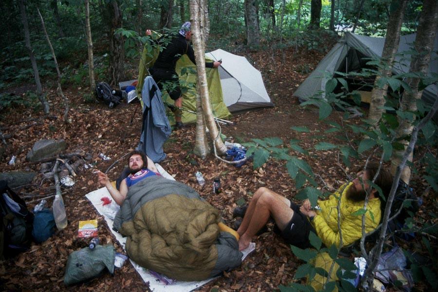 cowboy camping on the Appalachian trail