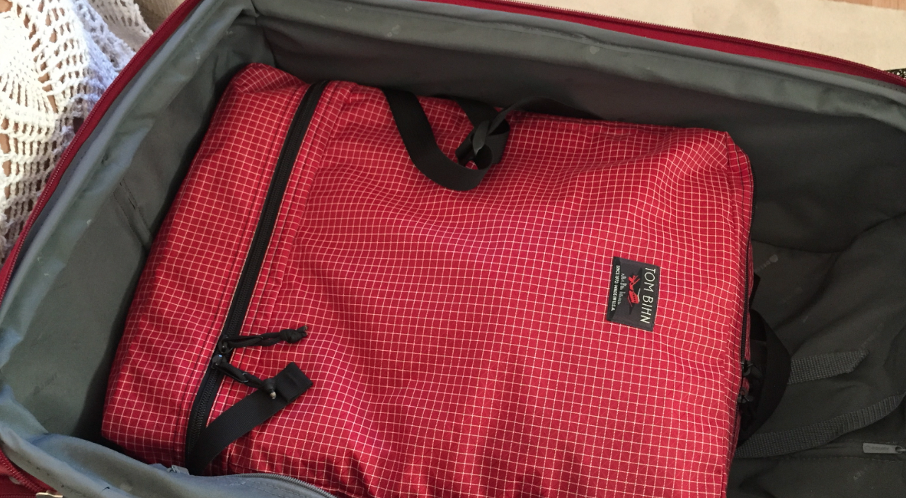 Square items maximise space inside a suitcase