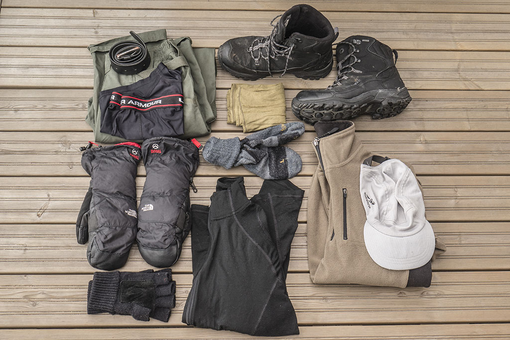 packing list for a winter hike in Finland