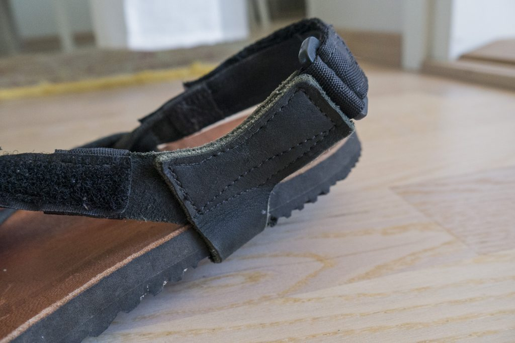 adjustment points of the mountain goat sandals
