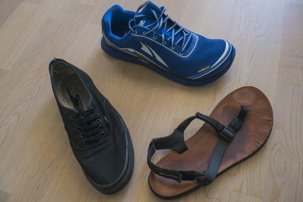 a selection of different kinds of zero drop shoes
