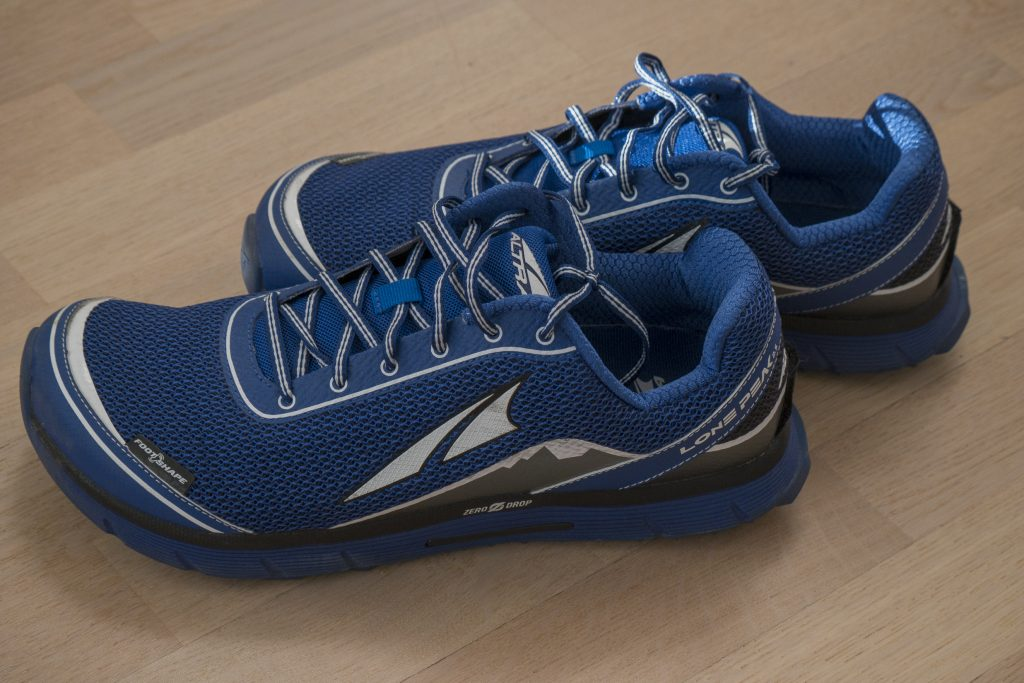 blue altra lone peak running shoes