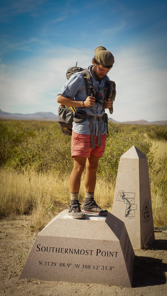 cdt trail journals - me at the mexican border