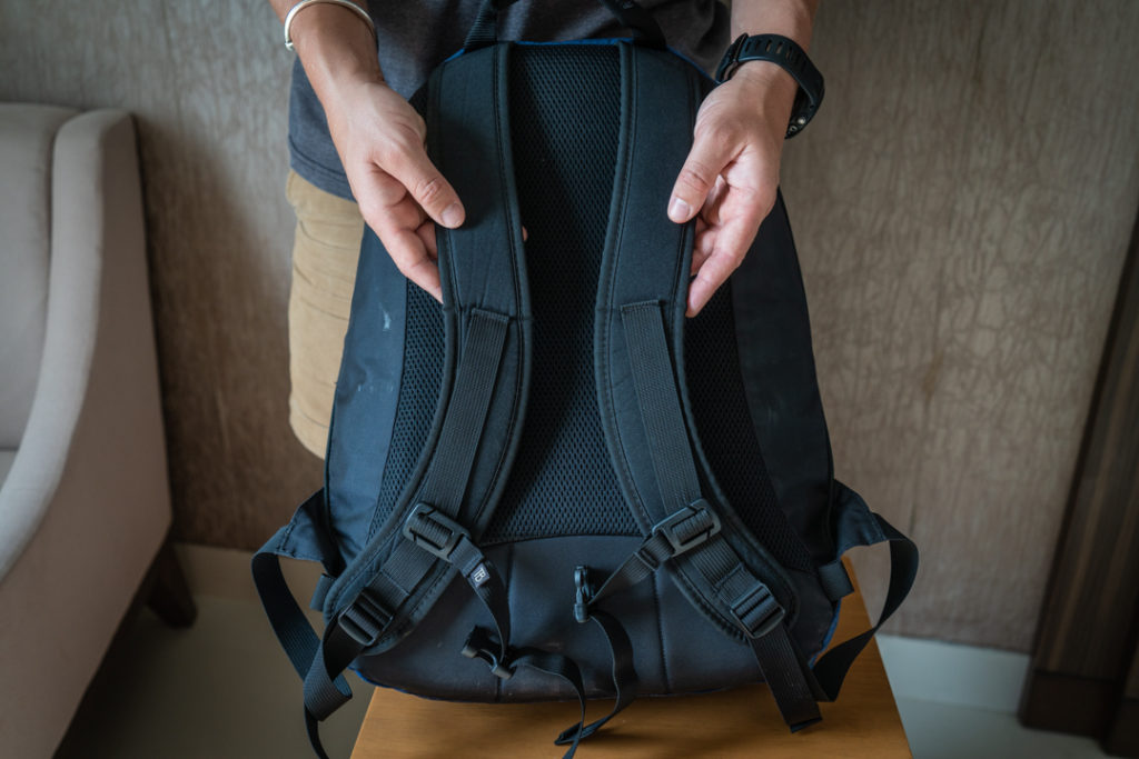 shoulder straps of tom bihn synapse