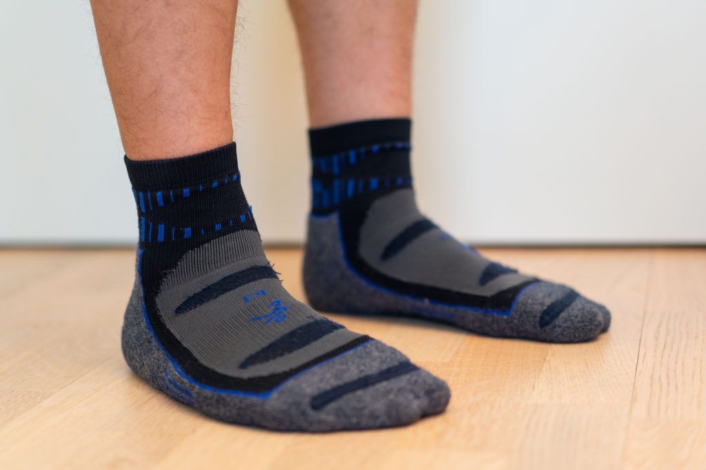 Man wearing Balega Socks