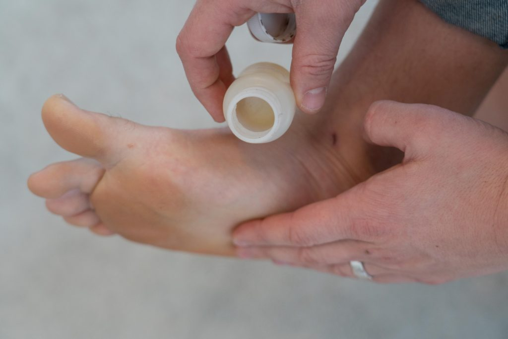 putting vaseline on feet to prevent blisters