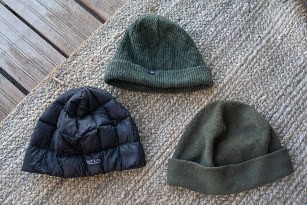 three beanies compared for hiking trips