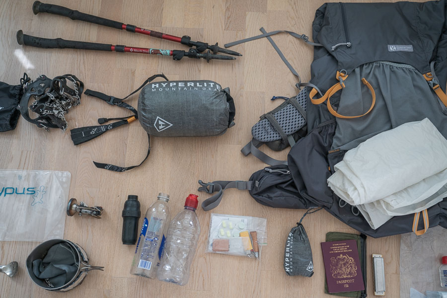 Thru-Hike Gear List – What I used for 400 Miles In The High Sierra