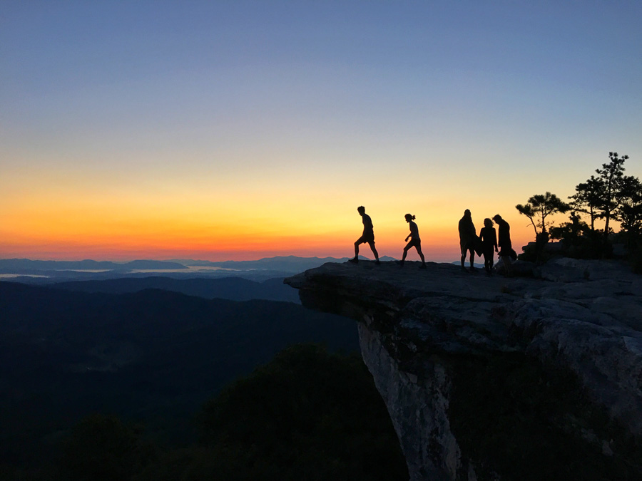 McAfee knob on the appalachian trail