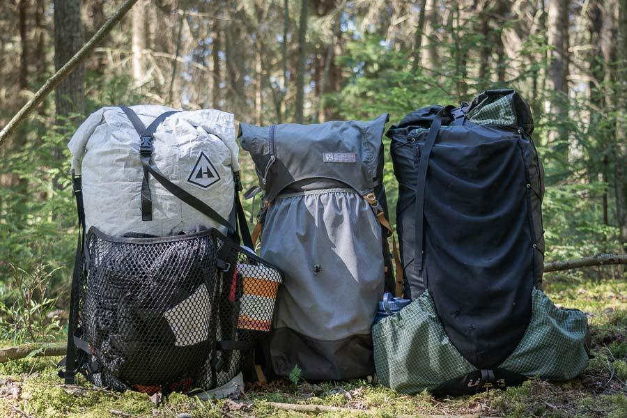 thru hiking backpacks